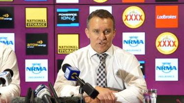 Paul White says Anthony Seibold won't be sacked as Brisbane coach.