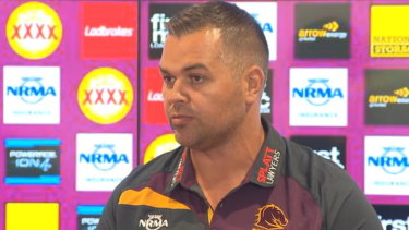 At last: Anthony Seibold wants to make an immediate impact as Brisbane coach.