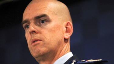 Simon Overland, pictured when he was Victoria Police chief commissioner.