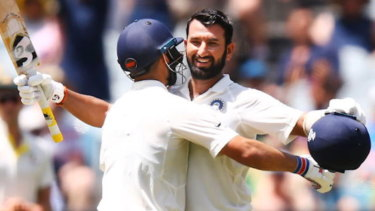 Standout: Cheteshwar Pujara was named man of the series.