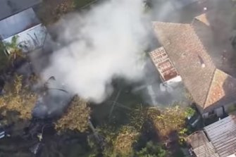 A man's body has been found in a Glenfield granny flat following a fire.