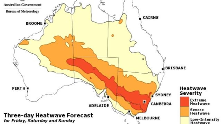 The Bureau originally said they were unsure when the heatwave would let up but are now predicting a cool wind change on Tuesday.