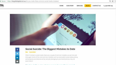 """The original post on Kochie's Business Builders was headlined """"Social suicide"""" which has been changed to """"Social slips""""."""