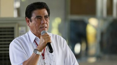 Philippines mayor Antonio Cando Halili was shot dead while attending a weekly flag-raising ceremony.
