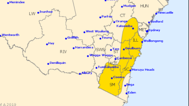 The Bureau of Meteorology severe weather warning for Friday.