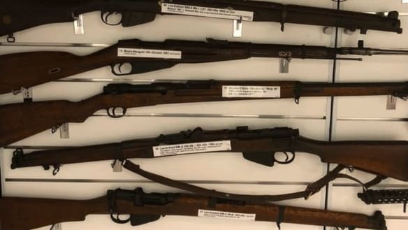 Military weapons stolen from Logan business