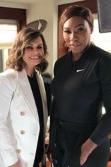 Lisa Wilkinson with Serena Williams in New York nearly two weeks ago.
