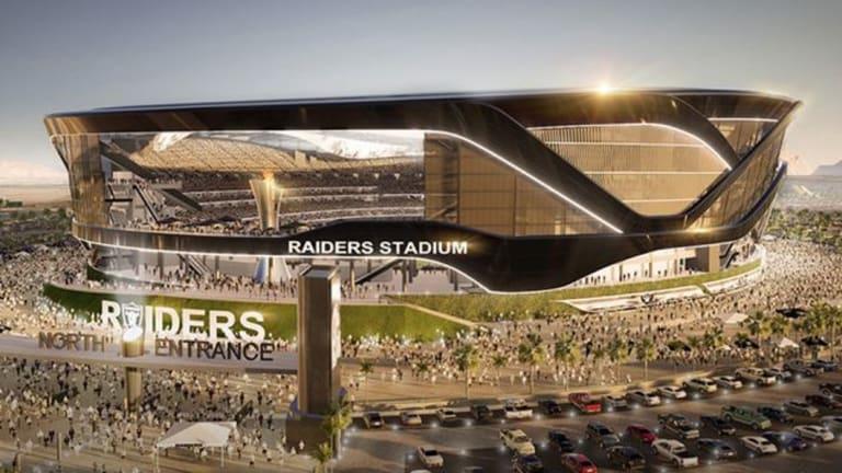 An artist impression of Raiders Stadium in Las Vegas.