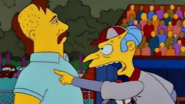 Monty Burns and Don Mattingley... or is it Wayne Bennett and Jai Arrow?