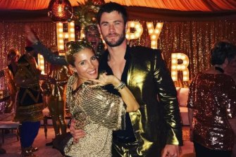 Elsa Pataky and Chris Hemsworth at a past New Year's bash.