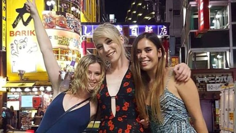 Members of the community have taken to social media to pay tribute to Madison Lyden (centre), who was killed by a truck while holidaying in New York.
