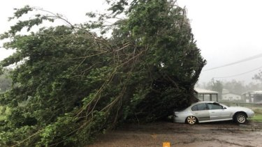 The damage caused by Tropical Cyclone Trevor overnight.