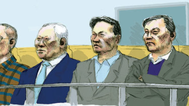 Court sketch from August 2005