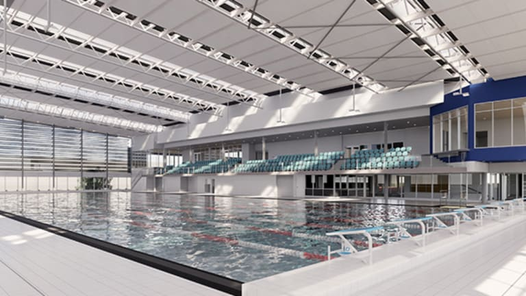 An artist's impression of Caulfield Grammar School's new aquatic and wellbeing centre.