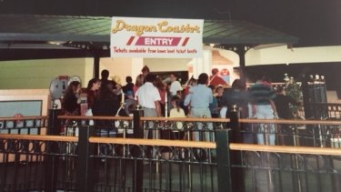 The dragon rollercoaster at Top's was a crowd favourite.