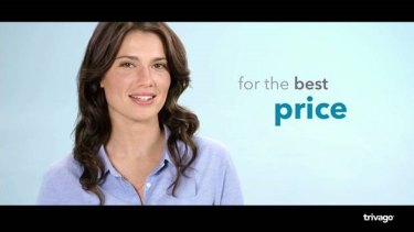 A screenshot from a Trivago TV ad in December 2017.