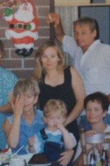 Shari with her mother Sandra (left), father Tom and son Luke at the last Christmas they would spend together in 1994.