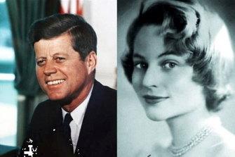 John F Kennedy and his lover, Swedish aristocrat Gunilla von Post