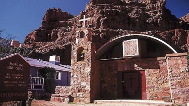 A church in the town of Supai, the most remote community in the contiguous United States.