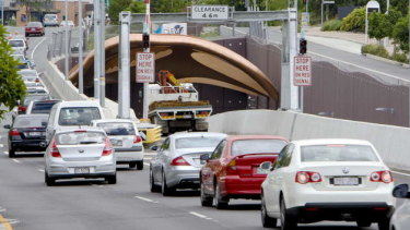The Clem 7 tunnel entrance.