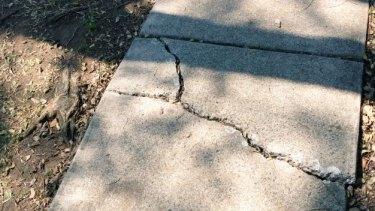 Damaged footpath at Durack Street, Moorooka