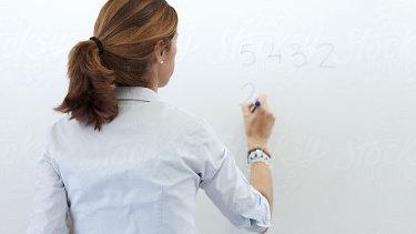 A teacher at work.
