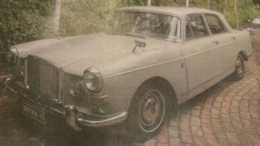 He was driving his light grey 1967 Vanden Plas sedan.