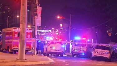 The alleged fatal stabbing occurred on Milton Road in inner Brisbane.