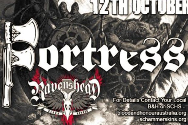 The promotional flyer for Melbourne's seemingly-cancelled neo-Nazi concert