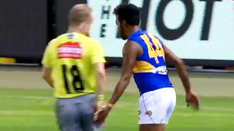 Cheeky Eagles forward Willie Rioli has avoided a ban for this umpire contact.