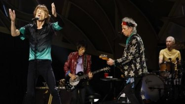 The Rolling Stones in concert at Rod Laver Arena, Melbourne, in 2014.