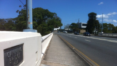 Canning Bridge, at Norman Park, is heritage listed and cannot be widened.