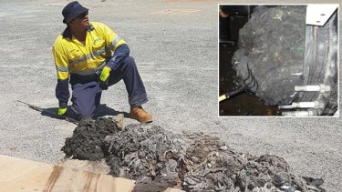 Fatbergs surfaced in Western Australia early in the year.