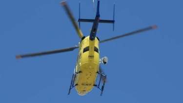 A rescue helicopter had been called to the scene.