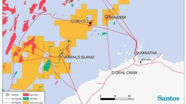 Santos's Corvus-2 gas find is close to connection points to gas plants.