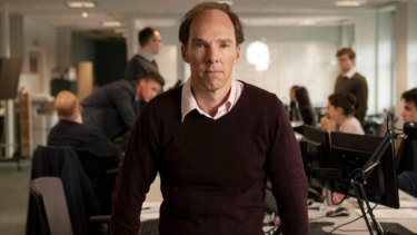 Benedict Cumberbatch jako Dominic Cummings, strateg kampanii Brexit Leave, w Brexit: An Uncivil War, film Channel 4.