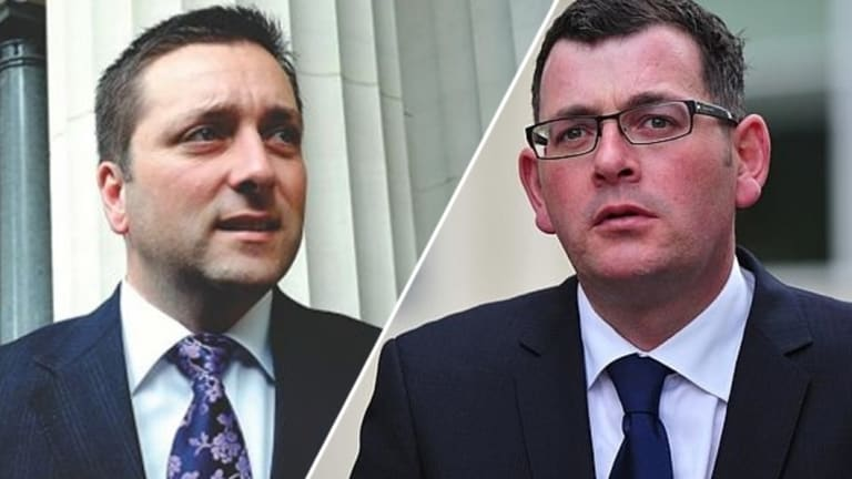 Head to head: Matthew Guy and Daniel Andrews.