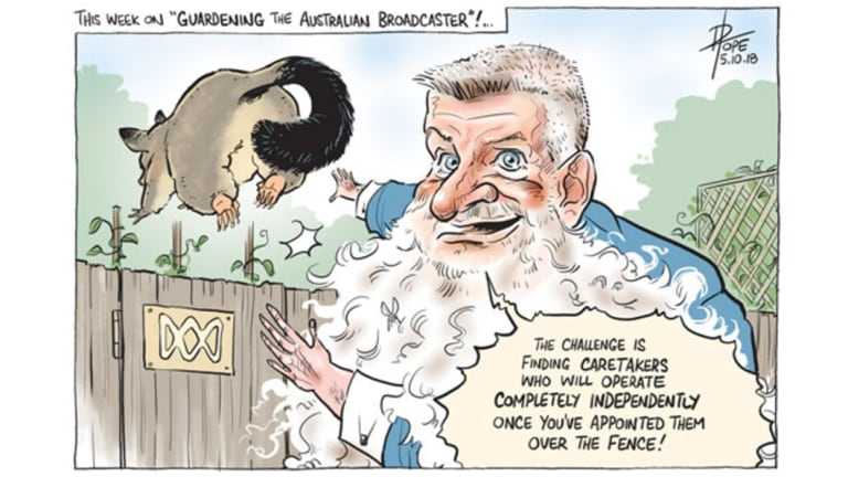 The Canberra Times editorial cartoon for Friday, October 5, 2018.