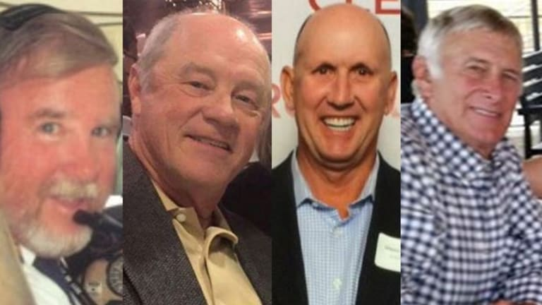 Four victims of the plane crash: Pilot Max Quartermain, and golfers Russell Munsch, Glenn Garland and Greg De Haven.