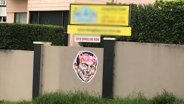 'A new nastiness': Offensive posters of Tony Abbott appear in North Sydney