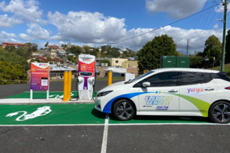 The latest electric car charging centre at Gympie which opened this week.