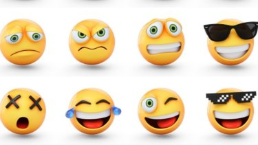 Westerners favour emoji mouths to express emotion, while Asian scribes prefer eye action.
