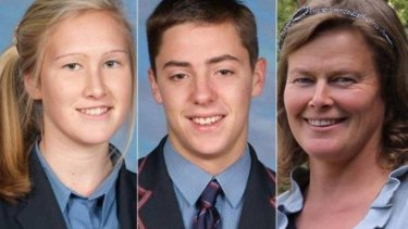 Sadie Stewart, 16, James Wearmouth, 18, and Susanna Stewart, 48, died when the ute driven by Russell Stewart crashed into a tree.