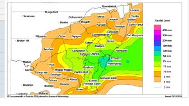 Rainfall on Wednesday to be heaviest near the NSW but also stretch well inland, the bureau says.