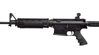 An Armalite assault rifle.
