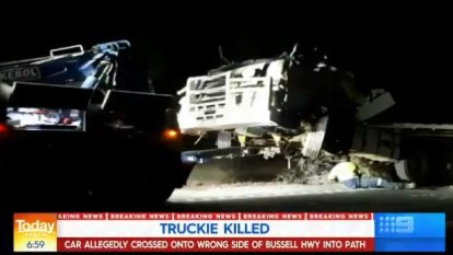 Truck driver killed, man charged with dangerous driving over fatal South West crash