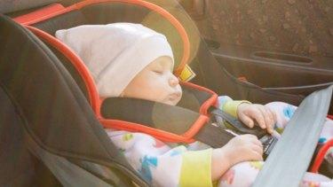 Sleeping car seat danger.