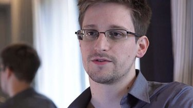 CIA technician turned whistleblower Edward Snowden.