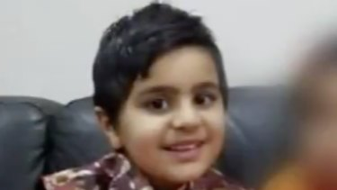 Ayan Kapoor, 4, was killed by a falling tree on Thursday evening.