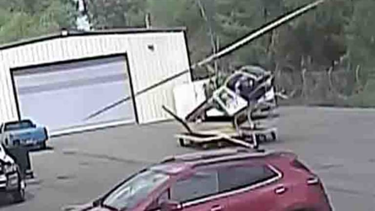 A police helicopter in Little Rock, Arkansas, loses control and crashes.